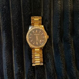 Michael Kors Rose Gold Crystal Bezel Watch